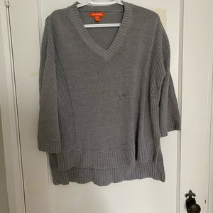 Joe fresh high low grey sweater with bell sleeves